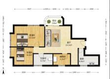 园东花园二手房价 3室 2厅 1卫